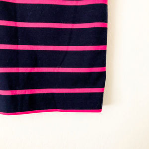 The Limited Skirts - The Limited Navy Blue and Pink Striped Skirt